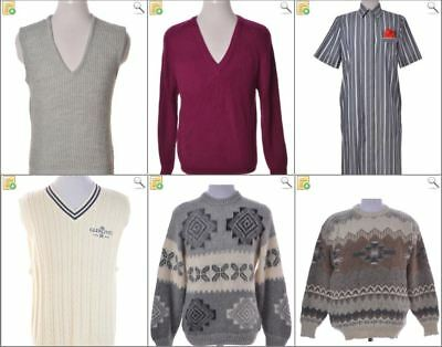 JOB LOT OF 6 VINTAGE MEN'S KNITS  - Mix of Era's, styles and sizes (20823)