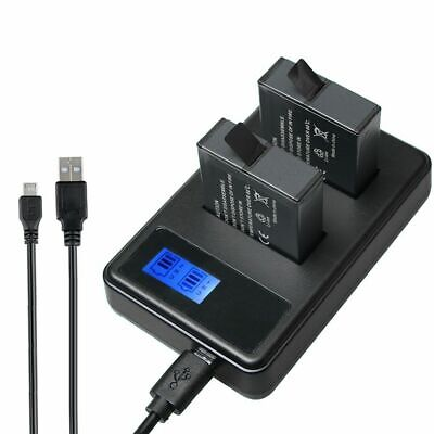 Battery AHDBT-501 Dual USB Charger Kit LCD Display Mini Cable for GoPro HERO 6/5
