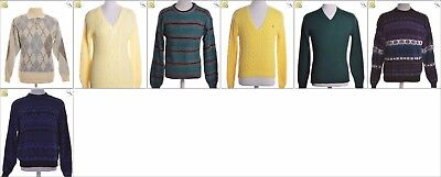 JOB LOT OF 7 VINTAGE MEN'S KNITS  - Mix of Era's, styles and sizes (20795)