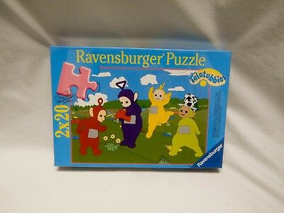 """1996 Ravensburger Puzzle Four Teletubbies in the Garden 10.39"""" x 7.12"""" NEW"""