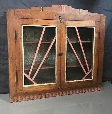 Antique/vintage Indian, Art Deco Double Door Bathroom / Display Cabinet. Mumbai.