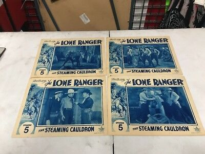 The Lone Ranger Ep 5 The Steaming Cauldron Lobby Cards Lot Of 4