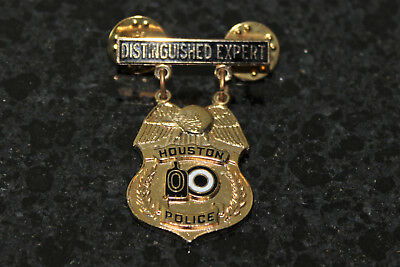 Houston Police Distinguished Expert Shooter Award Medal Badge Pin