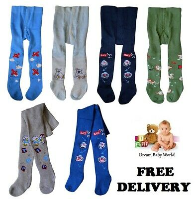 COTTON Baby BOYS Tights Leg Warmers 0 - 36 Months NEW BOYS Kids