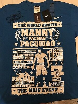 Manny Pacquiao Signed Nike T Shirt