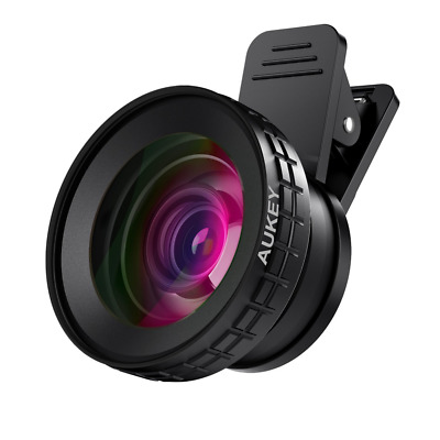 AUKEY Ora iPhone Camera Lens, 0.45x 140° Wide-Angle + 10x Macro Clip-On iPhone L