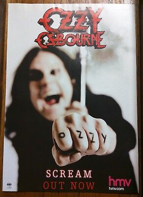 Ozzy Osbourne / Black Sabbath / Original Scream Magazine Ad Clipping + Free Dvd