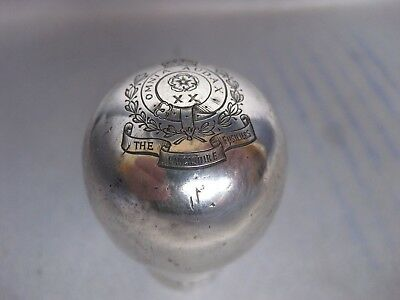 THE LANCASHIRE FUSILIERS hallmark Silver Swagger Stick Handle 1938