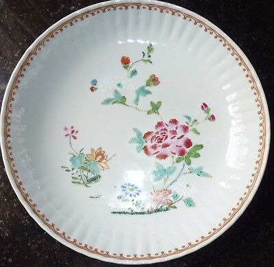 A C18th Qianlong Famille Rose shallow dish.  C1750