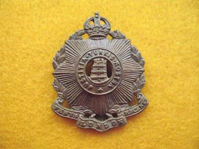 10Th County Of London Battalion (Hackney) Cap Badge With Slider.