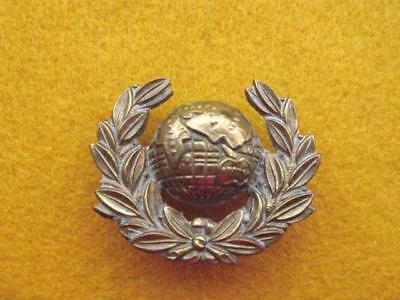 The Royal Marines Brass Collar Badge With Loops To The Reverse.