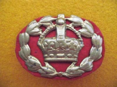 Wwii (Kc) Warrant Officers Arm Badge With Red Felt Backing.