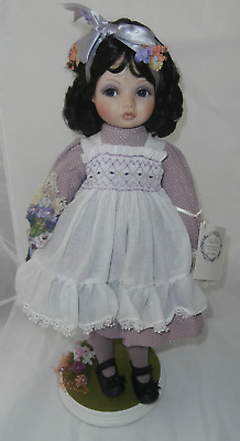 """Shy Violet Porcelain 18"""" Collector Doll The Hamilton Collection-Kay McKee-Nice"""