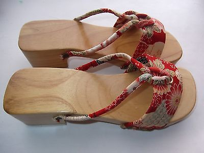 Authentic Vintage Geta Shoes/sandals For Ladies Or Girls Size 23.5 Cm