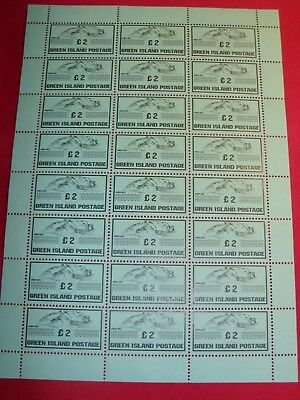 LAST ONE GB British Local Green Island Jersey 2014 £2 MNH Perforated FULL SHEET
