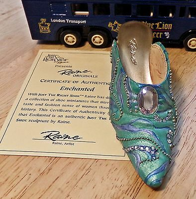 Just The Right Shoe Enchanted 2002 by Raine - Willitts Designs in box with COA