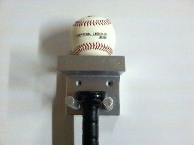 Baseball Bat Rack and Ball Holder Display Meant to Hold 1 Full Size Bat and 1