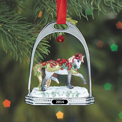 700314 Breyer Bayberry and Roses Stirrup Ornament Holiday 2014 NEW