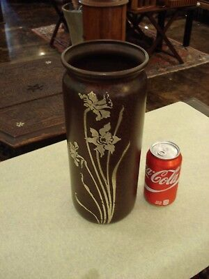 Outstanding Whopper Of A Heintz Arts And Crafts Bronze And Sterling Vase