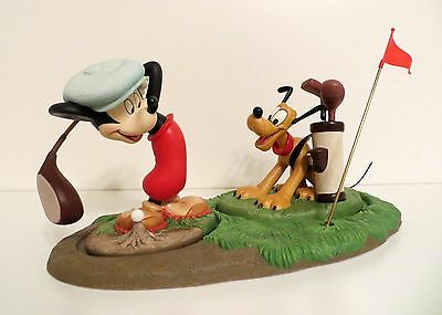 WDCC Mickey and Pluto Canine Caddy set