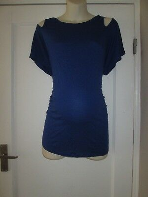 Lovely Size 14-16 Blue New Look Maternity Top See Pics!!