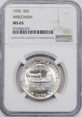 1936 Wisconsin Commemorative NGC MS-65