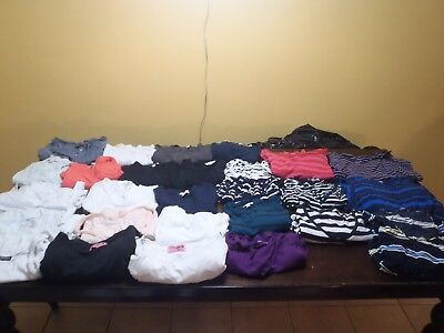 Lot Of 27 Maternity Clothes Top & Dresses Size M