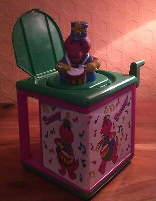 Barney The Dinosaur Jack In The Box Rare Retro Vintage Musical Toy 1993