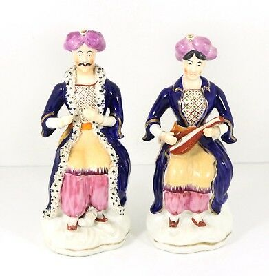 Fine Antique Staffordshire Porcelain Figures For Ottoman Turkish Market