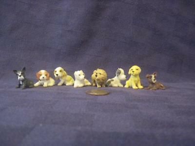 Miniature Dog Figurines Beagle-Chow-Terrier-Spaniel-Other-Dogs-Approx 1""