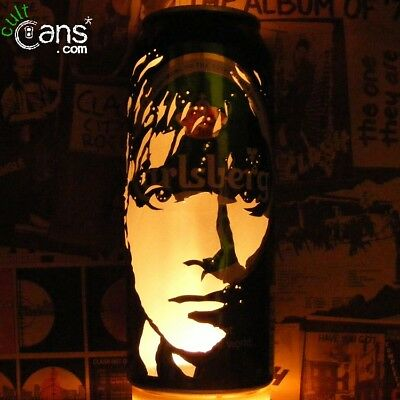 Damon Albarn Beer Can Lantern! Blur, Gorillaz, Pop Art Portrait Candle Lamp