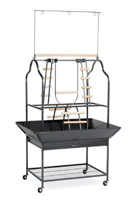 Prevue Hendryx 3180 Pet Products Parrot Playstand Black Hammertone