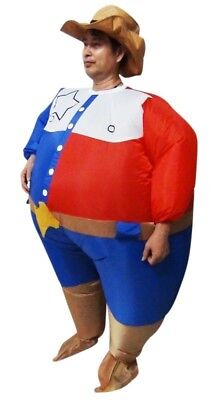 NEW Sheriff Fancy Dress Inflatable Suit Essential Home Supply AUS General Class