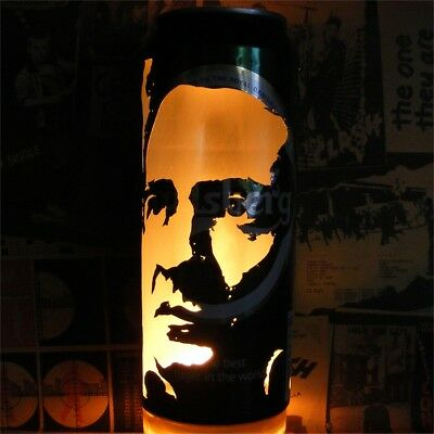 Johnny Cash Beer Can Lantern! Pop Art Portrait Lamp, Man In Black, Walk The Line