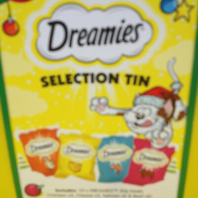 Dreamies cat Treats in a Tin special Christmas edition.