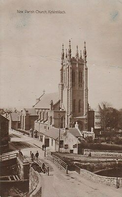 1915  RP postcard new parish church kirkintilloch animated see scans
