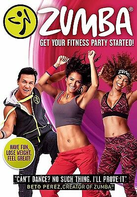 Zumba Dance Workout DVD Get Your Fitness Party Started Home New and Boxed