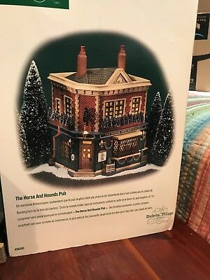 Dept 56 Dickens Village The Horse And Hounds Pub #56.58340 Mib