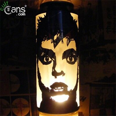 Billie Joe Armstrong 'Green Day' Beer Can Lantern! Pop Art Candle Lamp, Punk