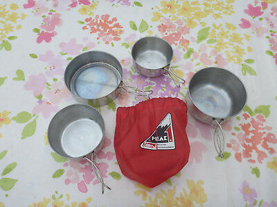 PEAK Coleman Stainless Steel Pot and Pan Set Cups Mug Camping Cooking Nestling