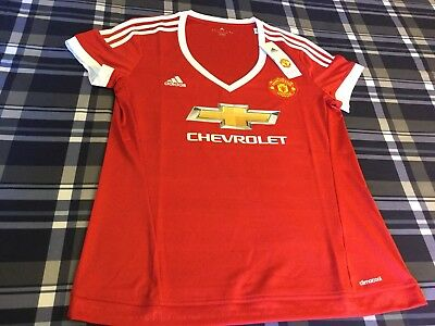 Manchester United Football Soccer Adidas New W/Tag Large Size Women's Jersey