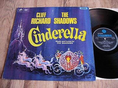 Cliff Richard & The Shadows, Cinderella, Orig Uk Columbia Mono Lp/1967, Ex Vinyl