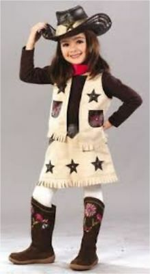 Deluxe COOL COWGIRL Toddler 2T & 3T-4T Halloween Costume Western Sweetie Rodeo