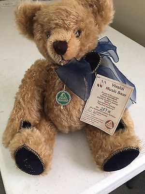HERMANN Classic Music Bear, Stuffed, Made in Germany, Plays Vivaldi's melody