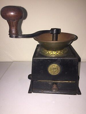 Kenrick Victorian Coffee Grinder, cast iron and brass