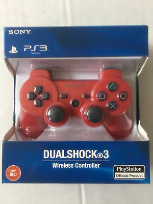 Sony Playstation 3 PS3 Wireless SIxaxis Dualshock 3 Joypad Controller Red
