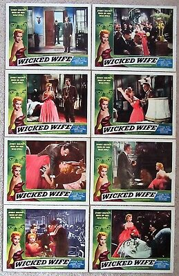 WICKED WIFE ORIGINAL 1955 1st RELEASE SET OF 8LC's 11X14 MOIRA LISTER EX