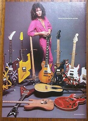 Van Halen / Eddie Van Halen Guitar Collection Magazine Pinup Clipping + Free Dvd
