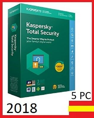 ★ Kaspersky Total Security 2018 / 5 Pc Devices / 1 YEAR ★ NO CD / fast delivery