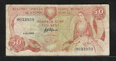 Cyprus  Fifty Cents  (#B 247  )